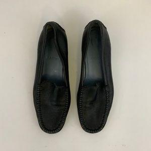 Bally Dairy Black Leather Slip on Loafer Sz 8